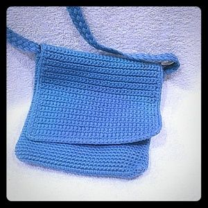 A small crocheted Crossbody bag by Old Navy